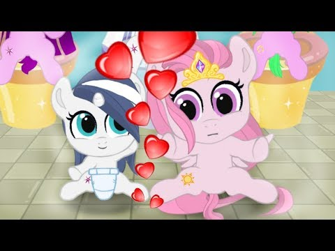 Love in the house. Pocket ponies. Cartoon game for kids. My little pony. friendship is a miracle