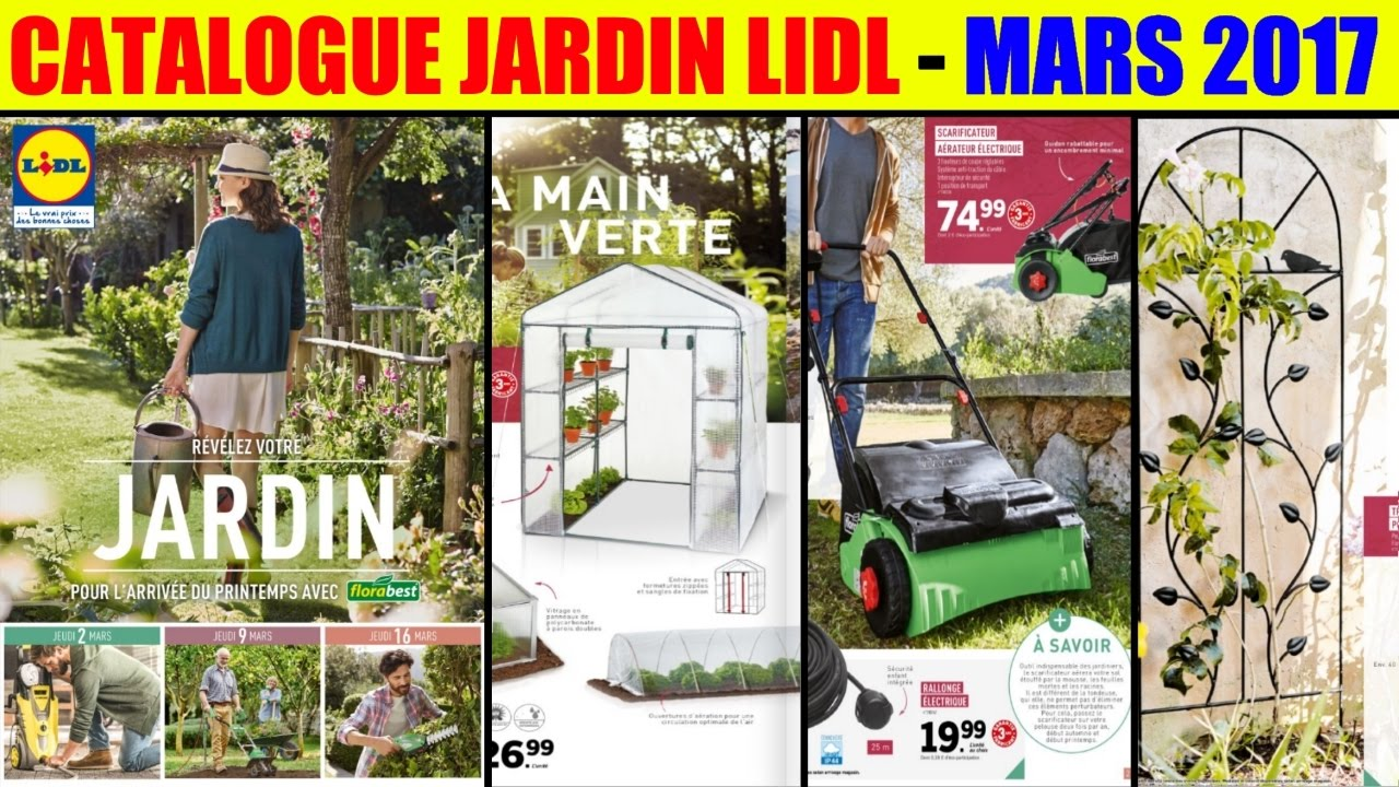 catalogue lidl jardin les offres des 2 9 et 16 mars 2017 petit point youtube. Black Bedroom Furniture Sets. Home Design Ideas