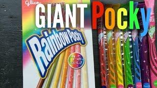 Tasting Giant Rainbow Pocky - Whatcha Eating? #197