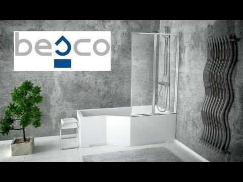 Установка бюджетной шторки для ванной ОТ и ДО. - YouTube