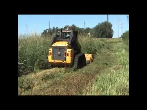 Skid-Steer Flail - Attachments - Diamond Mowers - YouTube