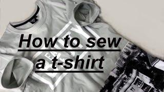 ✂ How to sew a T-shirt overlock lockstitch coverstitches machine Jak uszyć koszulkę owerlok