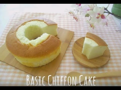 How To Make Chiffon Cake Snowy Winter Cafe