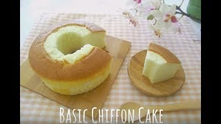 How To Make Basic Chiffon Cake - Snowy Winter Cafe