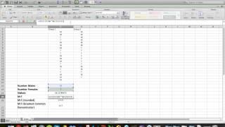 Microsoft Excel: كيف نحسب الذكور و الإناث من الذكور:الإناث نسب (بما في ذلك التقريب)
