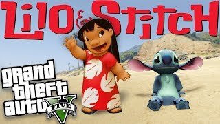 GTA 5 Mods - LILO & STITCH MOD (GTA 5 Mods Gameplay)