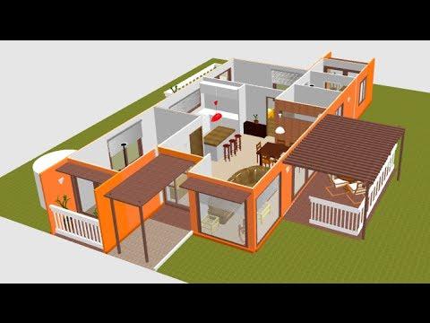 planos de casas hechas de contenedores maritimos