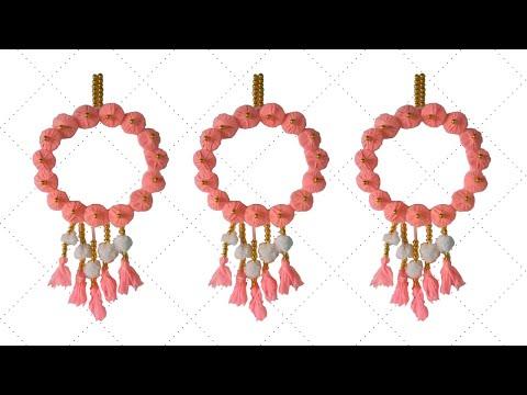 🌼 উলের সুতা দিয়ে চমৎকার ওয়াল হ্যাঙ্গিং তৈরি 🧡 Wall hanging craft ideas simple - Wall hanging diy