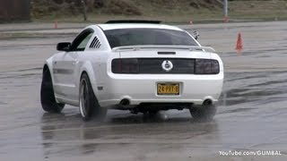 Trying to drift with a Ford Mustang GT/CS!
