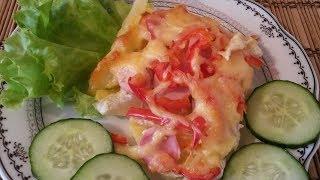 Картофель с сосисками и болгарским перцем