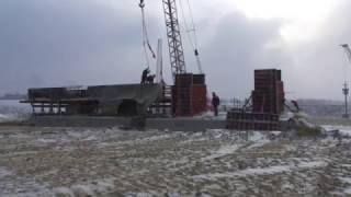 Керченский мост и лед в проливе