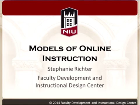 Models of Online Course Instruction