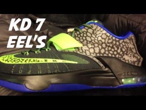 Nike KD 7 Electric Eel Sneaker With @DjDelz #HotOrNot - YouTube