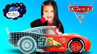 DISNEY CARS 3 Mattel TechTouch Lightning McQueen!  LCD interactive technology Unboxing with Evren
