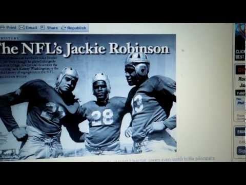 The First Black NFL Football Players