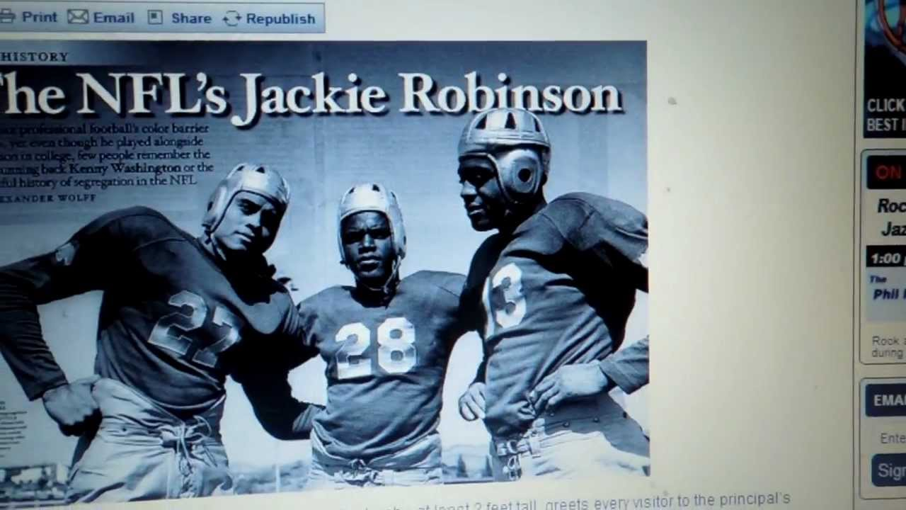 The First Black NFL Football Players - YouTube