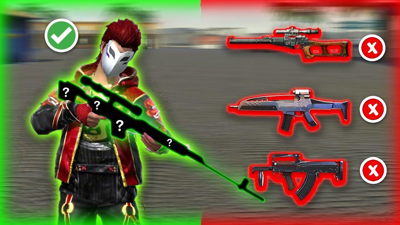 افضل اسلحة للمدى البعيد في فري فاير ..!
