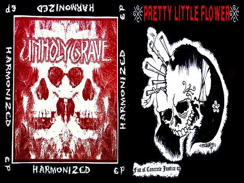 """Unholy Grave / P.L.F. (Pretty Little Flower) - split 7"""" FULL EP (2005 - Grindcore)"""