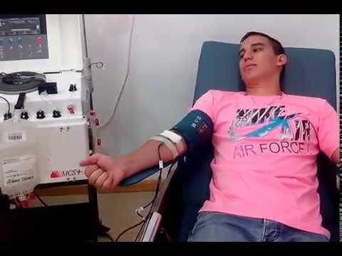 Donación de plaquetas por aféresis