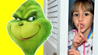 Kids Pretend Play Hide and Seek with Grinch  | Fun Kid Video