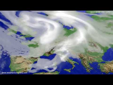 Cloud forecast Europe 2017-10-18