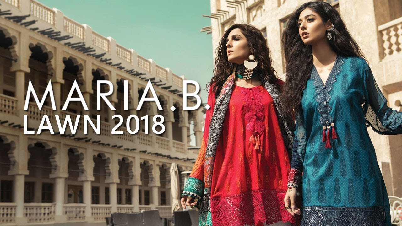 efe3fb5da4 Maria B Lawn Summer Collection 2018 - Pakistani Branded Clothes ...