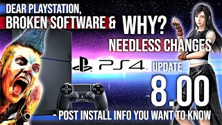 New PlayStation 4 Update 8.00 Firmware Is Broken 🎮 Bad PS4 System Software Gaming News 2020