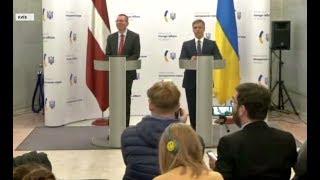 Розведення військ відтерміновано - заява Вадима Пристайка під час зустрічі з главою МЗС Латвії