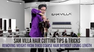 How To Remove Weight From Thick, Coarse Hair Without Losing Length