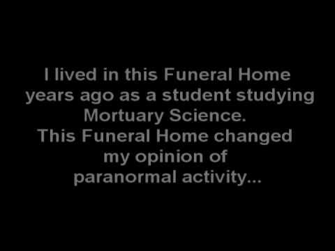 REAL EVP (Electronic Voice Phenomena) Captured in Funeral Home