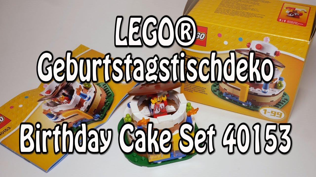 LEGOR Geburtstagskuchen Set 40153 Geburtstagstischdekoration Birthday Cake Review Deutsch