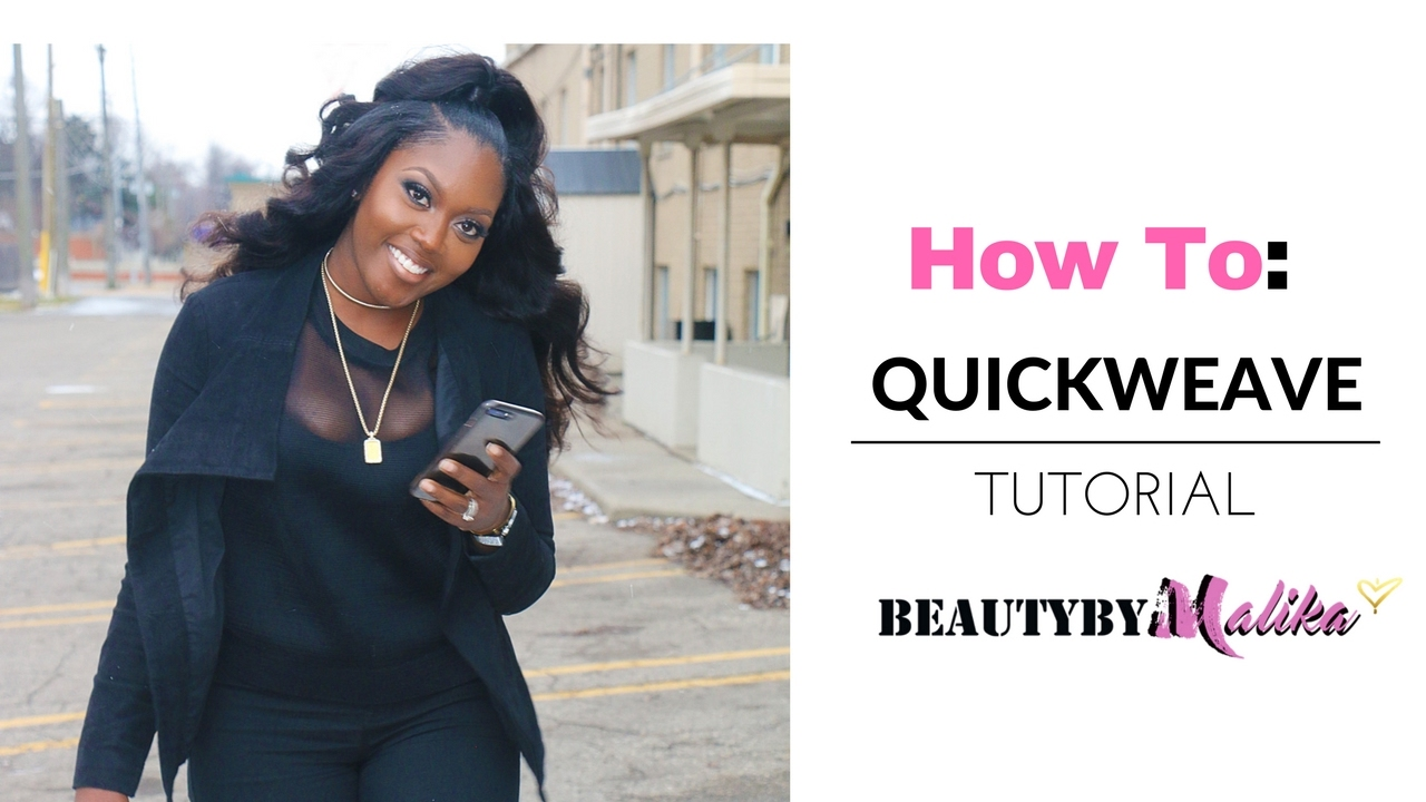 HOW TO : QUICK WEAVE HALF UP PONYTAIL