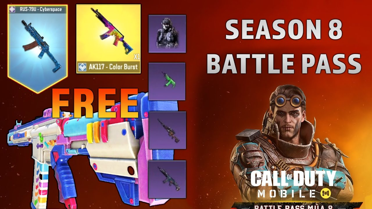 So Many Free Epic S New Season 8 Battle Pass In Cod Mobile Youtube
