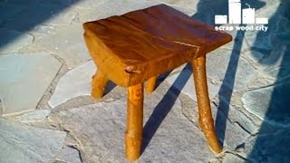 Diy Log Stool Made Of  Fire Wood