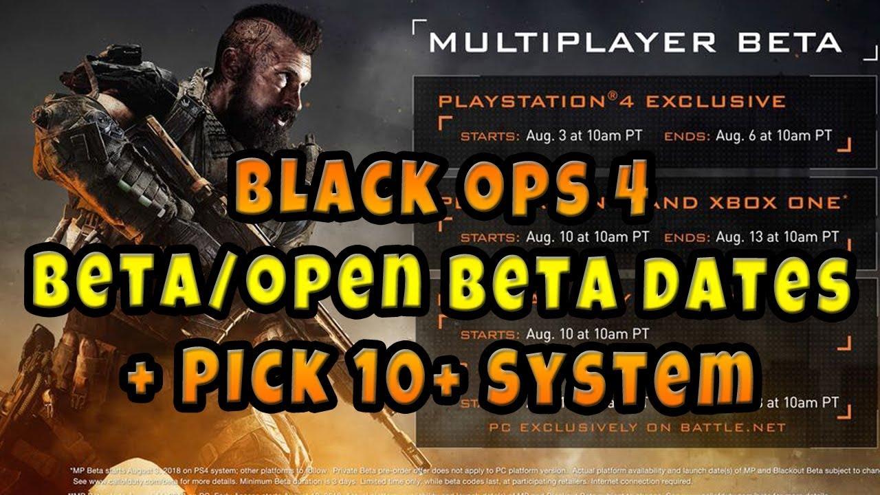 black ops 4 xbox beta times