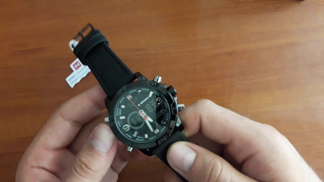 Обзор и настройка. Мужские наручные часы Naviforce Kosmos Black 9097 ... 4ca256b21b6a8