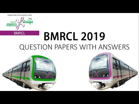 BMRCL KEY ANSWER 2019 cutoff marks