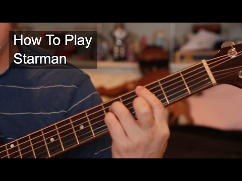 Starman - David  Bowie Guitar Tutorial