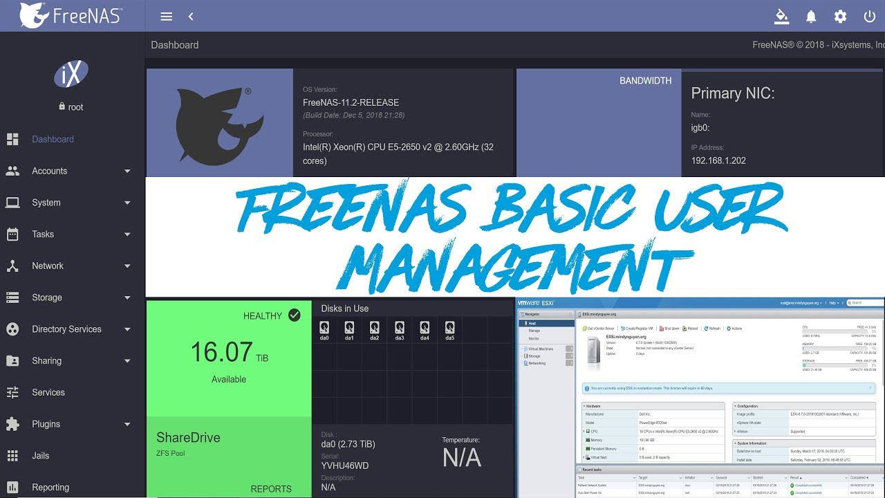 FreeNAS 11 2 - Users and Basic Account Management