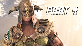 FOR HONOR Walkthrough Part 4 - Viking Campaign Story (PS4 Pro Let's Play Gameplay Commentary)