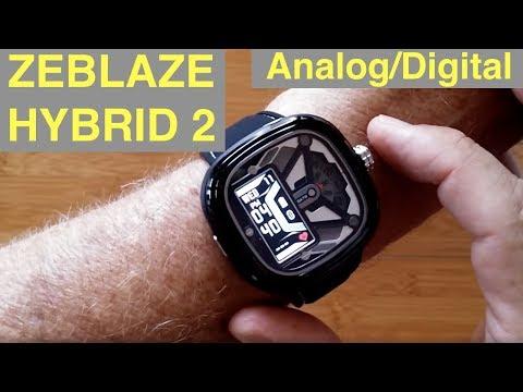 ZEBLAZE Hybrid 2 Analog/Digital 5ATM Waterproof Blood Pressure Dress Smartwatch: Unboxing & 1st Look