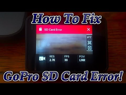How To Fix SD Card Error On Any GoPro Camera!