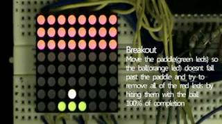 Simple Games with 8x8 LED dot matrix