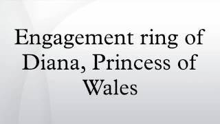 Engagement ring of Diana, Princess of Wales