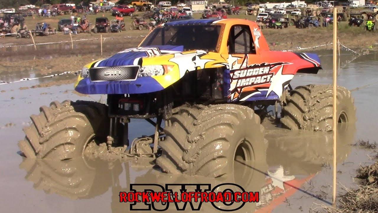 A Real Monster Truck Goes Mudding Fail Youtube