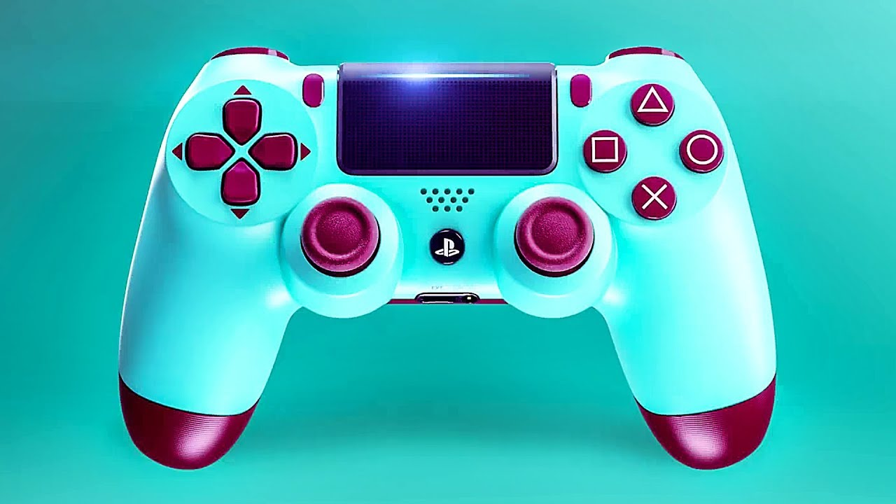 New PS4 Controller: Berry Blue DUALSHOCK 4 Trailer ...