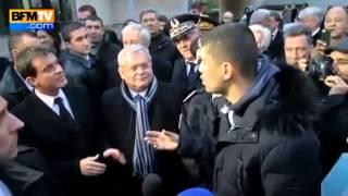 Valls interpellé par un citoyen à propos de la quenelle de Dieudonné