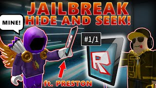 Je perds mon RARET ROBLOX ITEM, S'il m'ARRÊTE! (JAILBREAK FT PRESTON!) - Linkmon99 ROBLOX