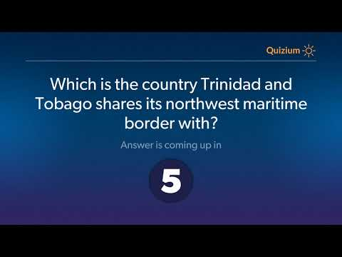 Which is the country Trinidad and Tobago shares its northwest maritime border with?   Trinidad and T