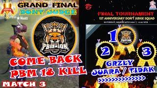 Download Lagu EPIC COME BACK PBM SABET JUARA 1 !! GRAND FINAL DONT JUDGE MATCH 3 # GRZLY JUARA ATAU TIDAK ? KEPO ? mp3